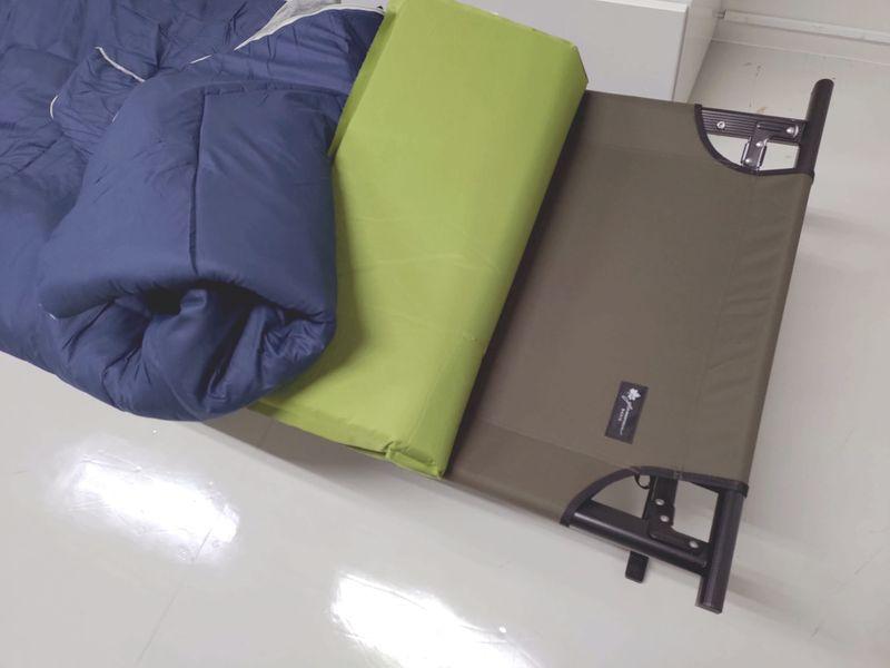 キャンプ用品で仮眠ベットを作る -11-