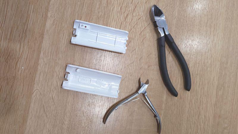 Wii U用リモコンの非接触充電 電池交換 11